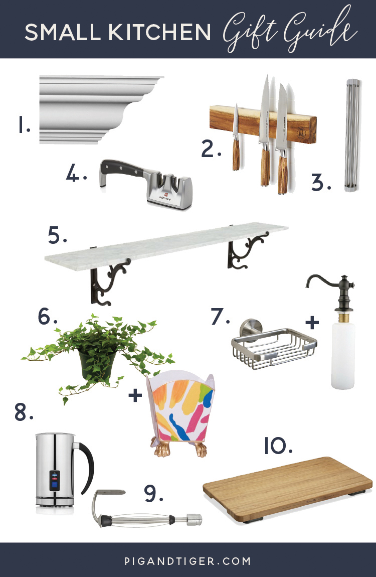 Have a small kitchen or shopping for someone who does? Check out this great gift guide by Pig + Tiger Renovation.
