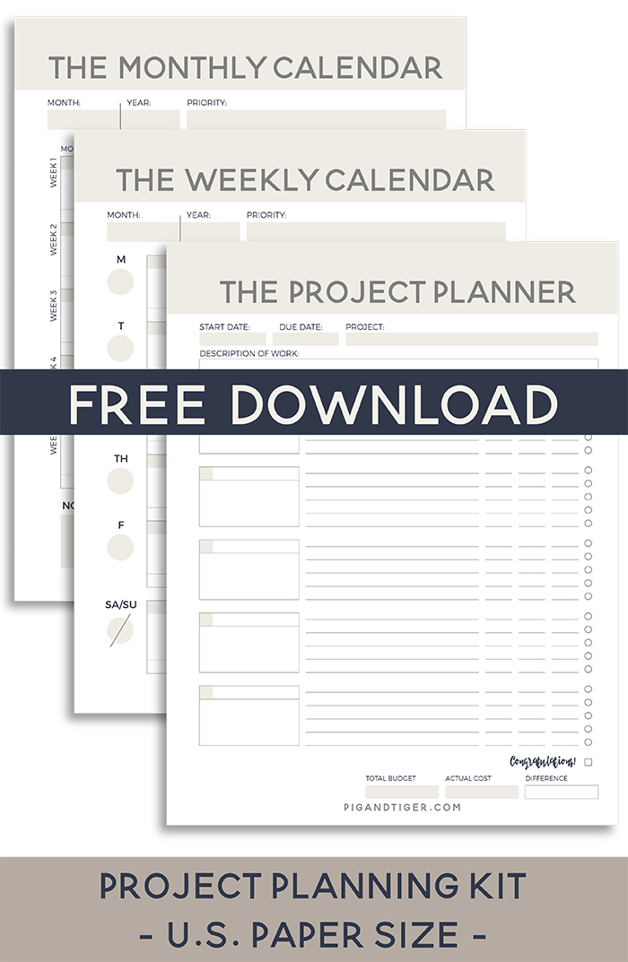 Renovation Planner successful project planning — pig + tiger renovation llc