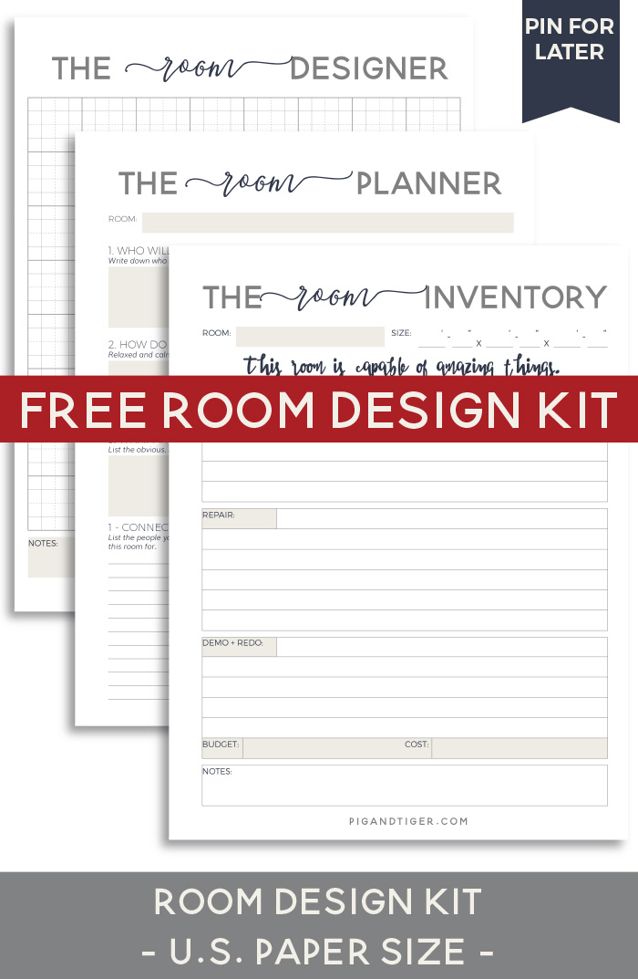 Design your room - FREE Room Design Kit - Pig + Tiger Renovation
