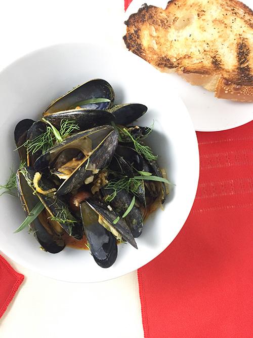 Mussels alla puttanesca