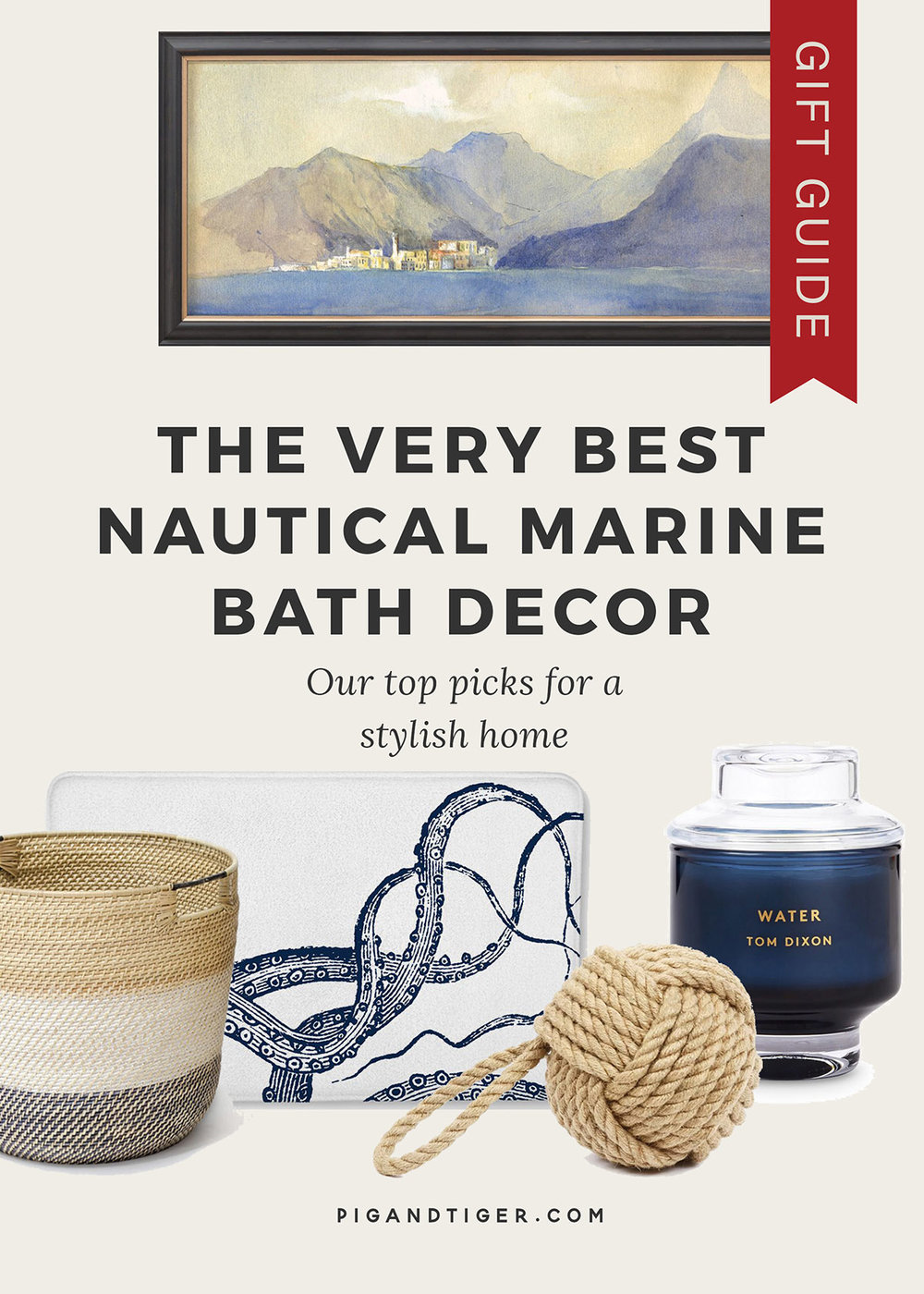 The best nautical bath decor gift guide - CLICK FOR DETAILS