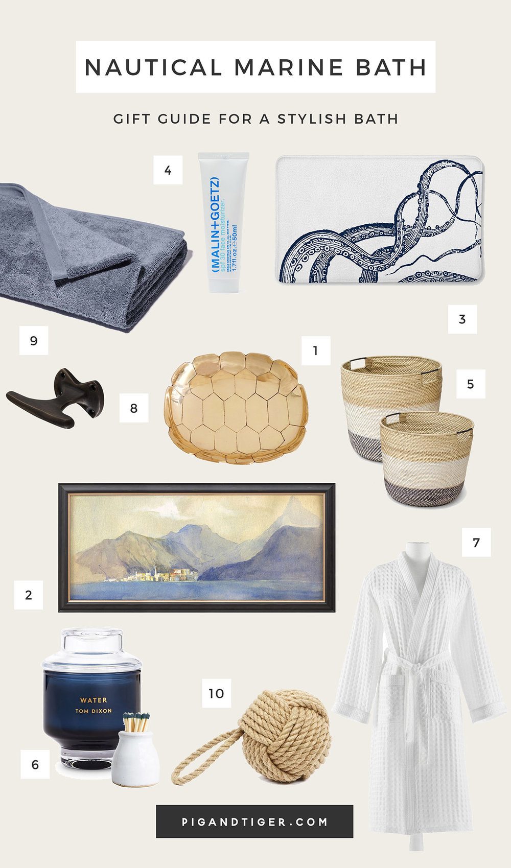 The very best nautical bath decor gift guide - CLICK FOR DETAILS