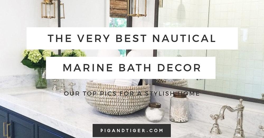 Nautical Marine Gift Guide, Bathroom Gift Guide