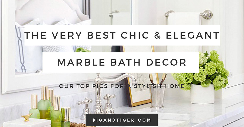 Chic and Elegant Marble Gift Guide, Bathroom Gift Guide