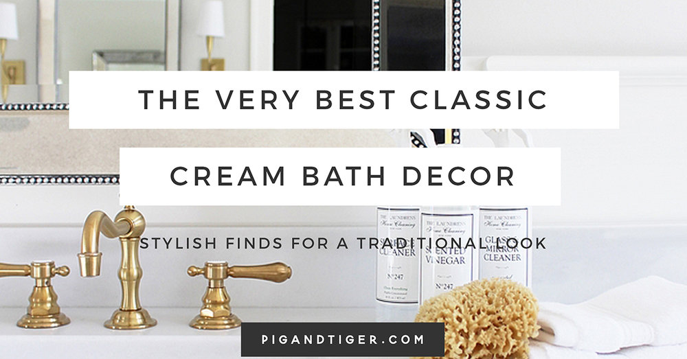 Classic Cream and Wood Gift Guide, Bathroom Gift Guide