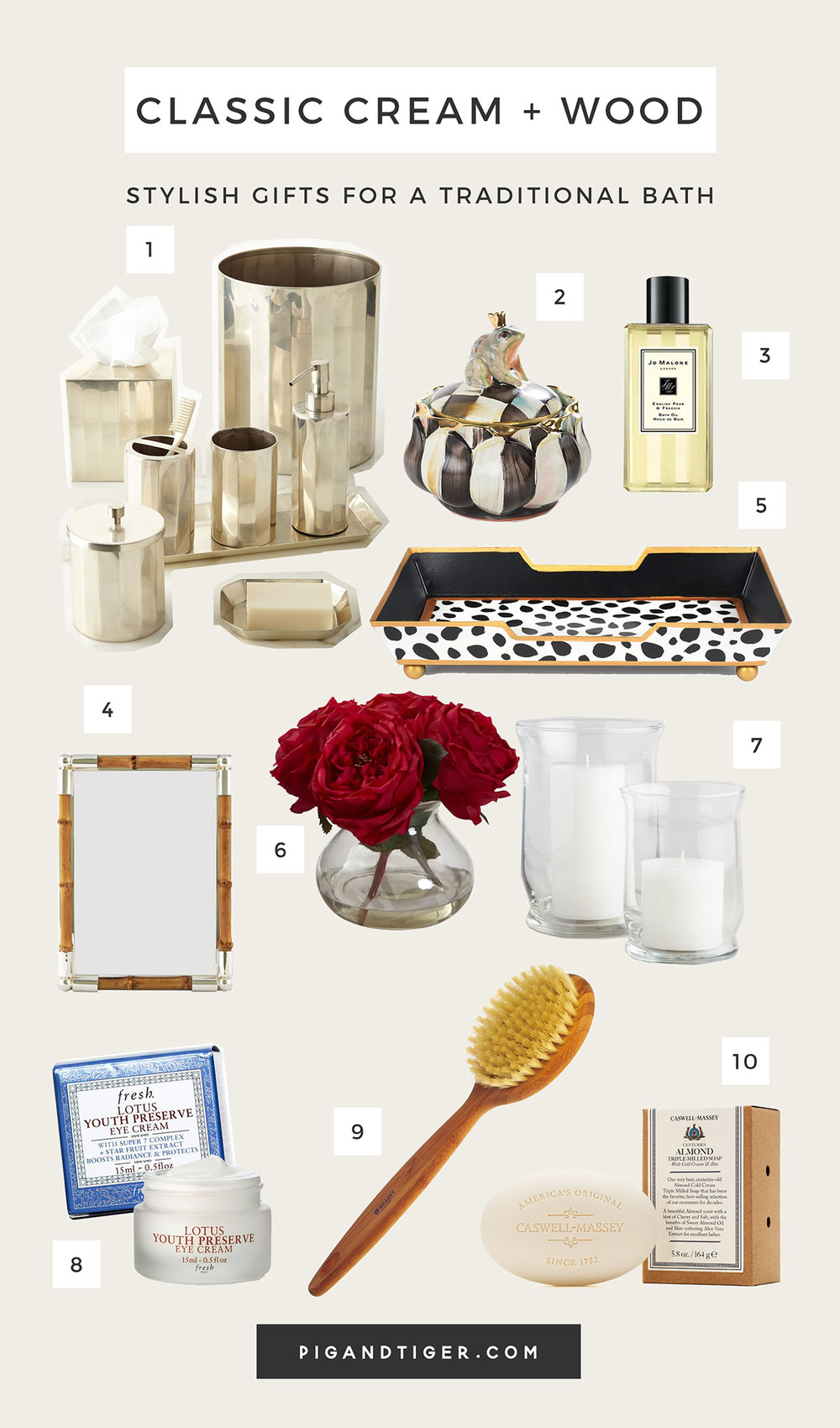 The very best Classic Cream bath decor gift guide - CLICK FOR DETAILS