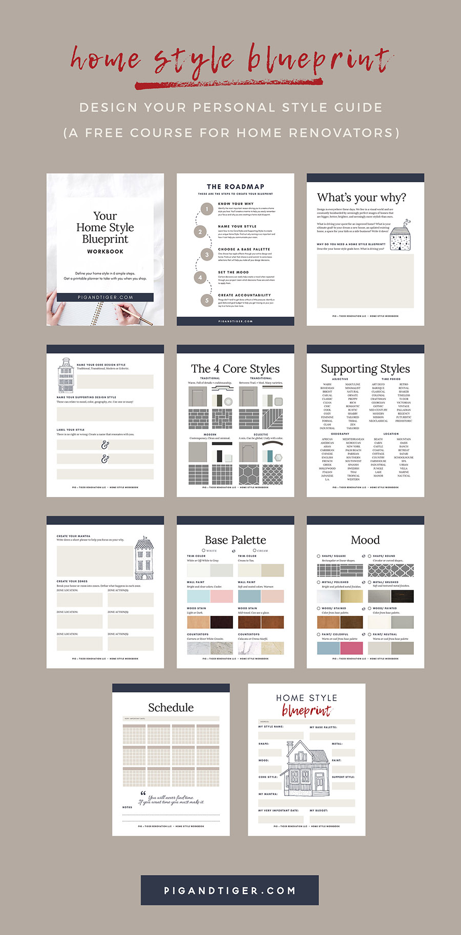 Design your Personal Home Style Guide with the HOME STYLE BLUEPRINT - a free course for renovators