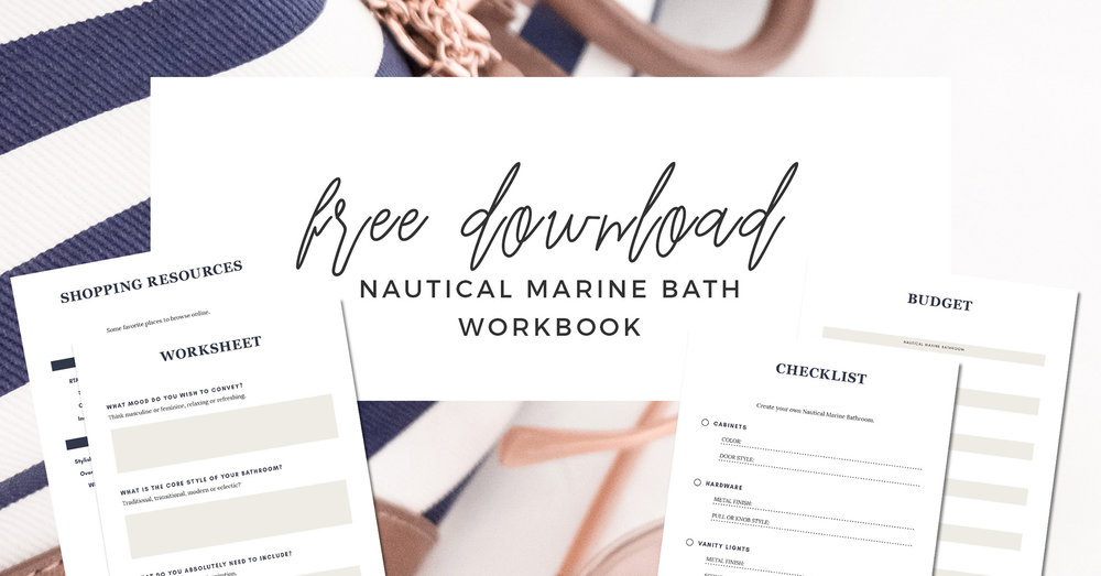 FREE DOWNLOAD - WORKBOOK nautical marine bathroom design