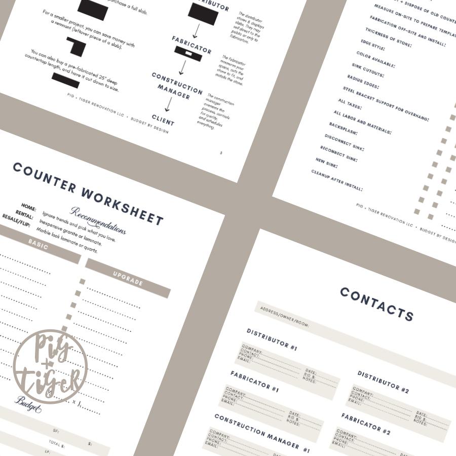 Budget by Design Countertop Workbook