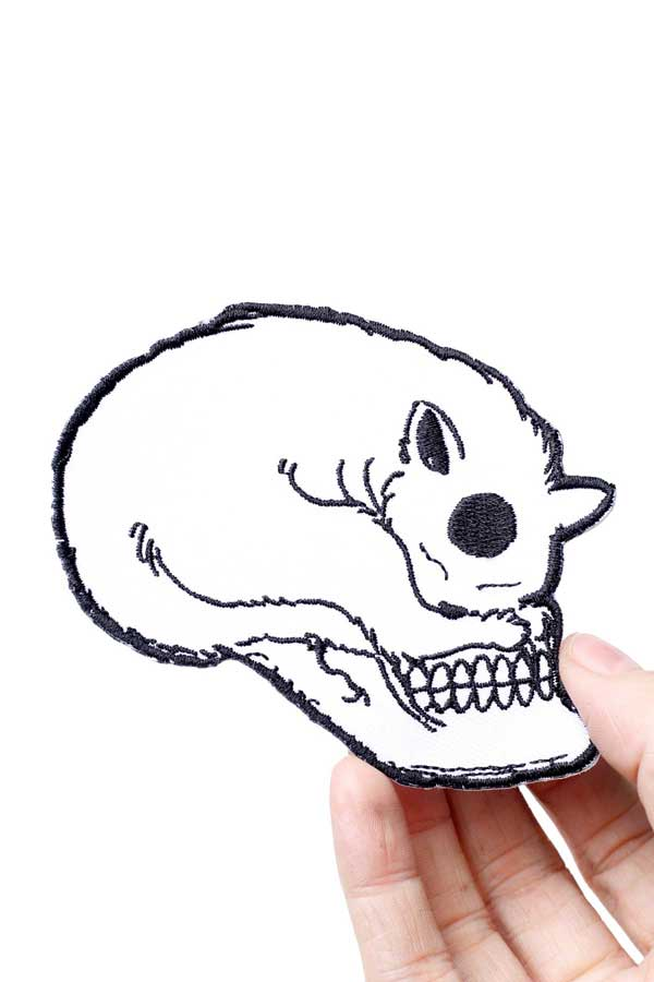 Cat Skull Embroidered patch by I don't Give a Meow