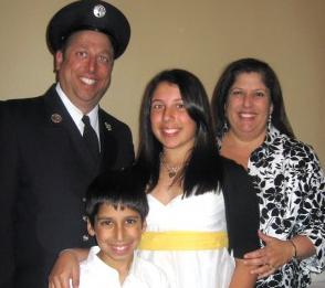 Jim pagano and his family