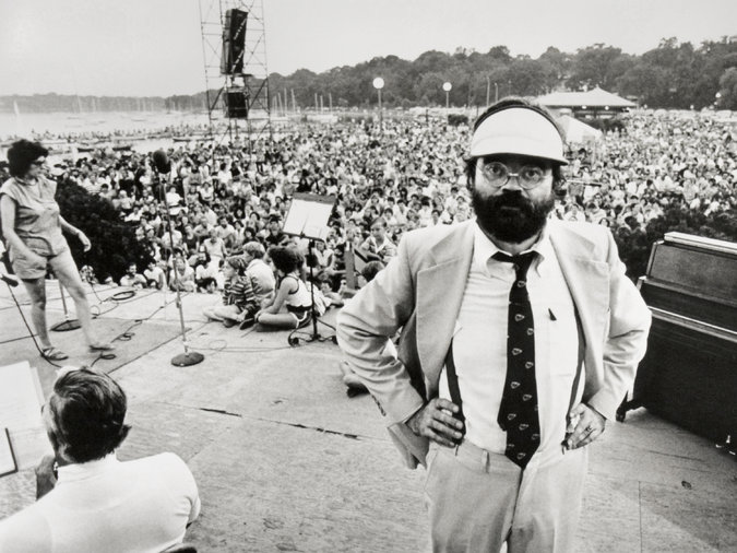 Garrison Keillor in the 1970s. Photo from Prairie Home Productions/American Public Media