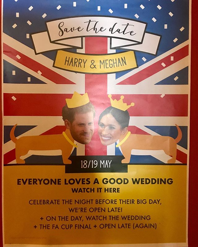 Look what my pal Nancy brought me back from England. Seems like so long ago already #meghanandharry
