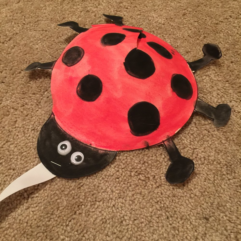 3d Ladybug Craft For Kids Squirmy Wormy Childrens Books Best