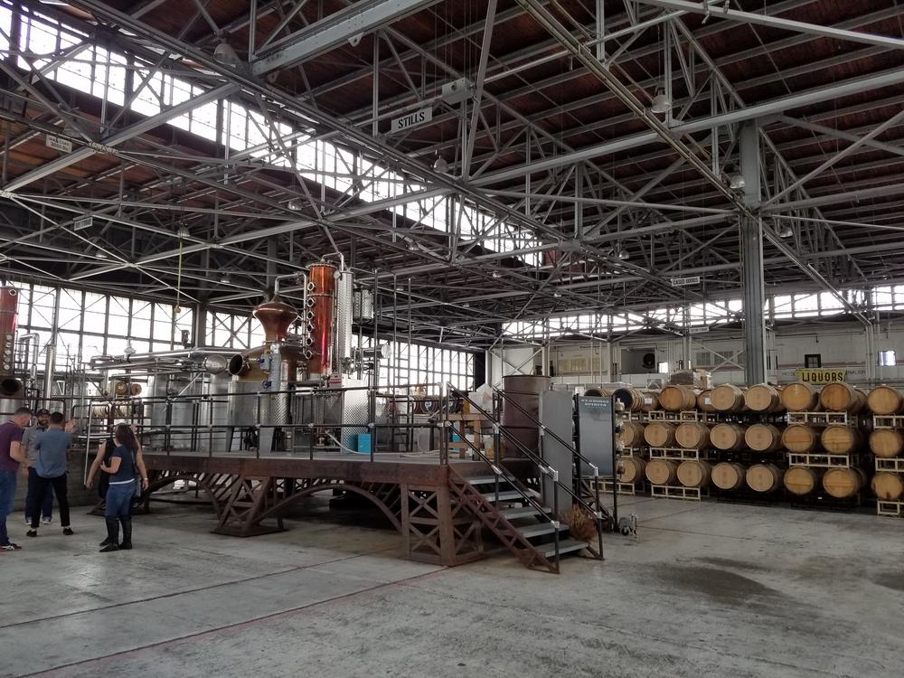 The hangar-turned-distillery