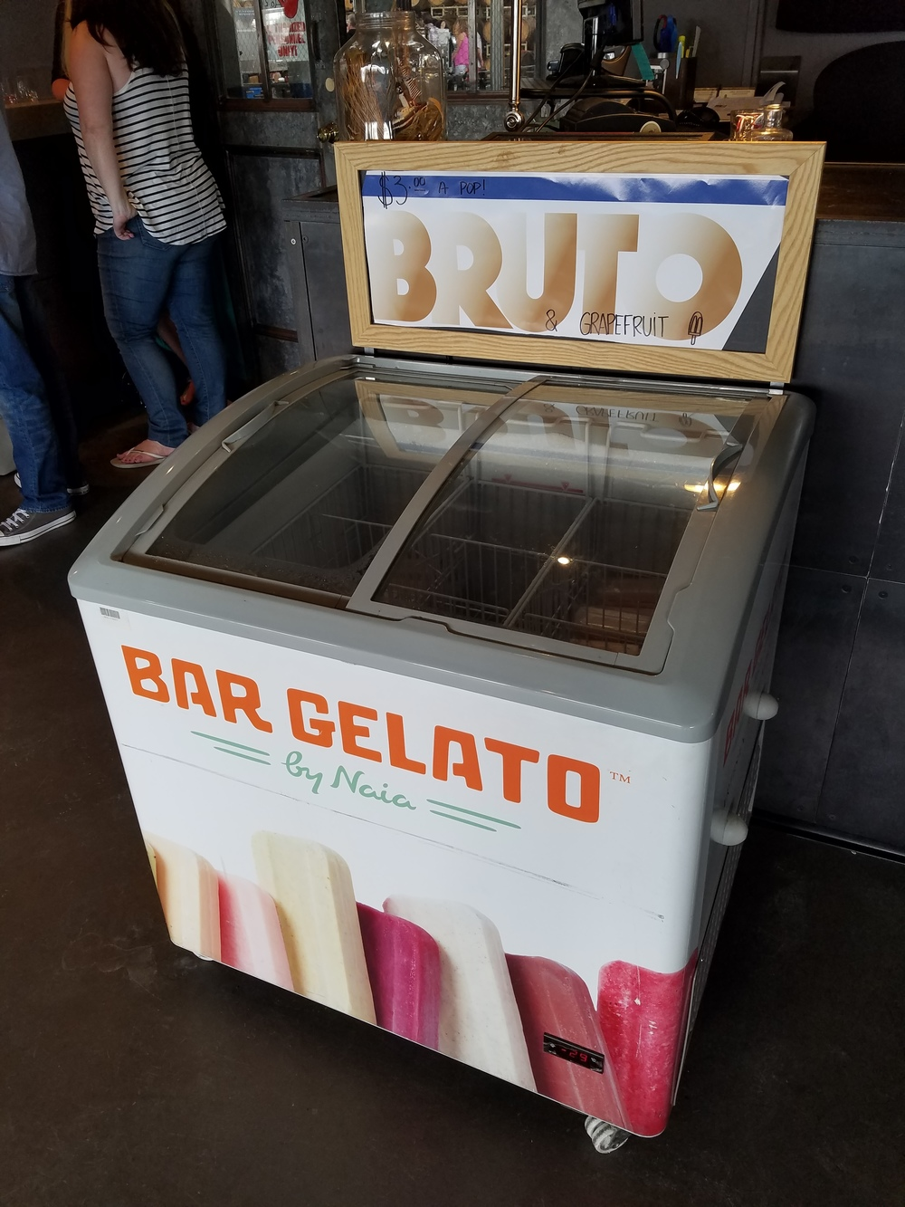 They also created Bruto Americano and grapefruit popsicles! Quite good... but taste like grapefruit for the most part.
