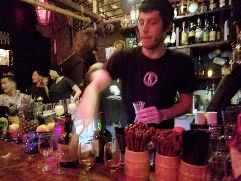 Our bartender pouring Chapter 3