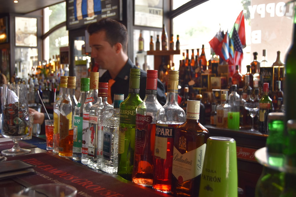 The bar had the most extensive alcohol selection we saw in Cuba