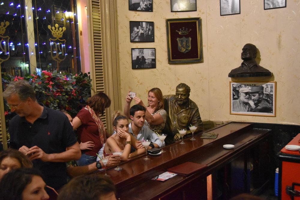 """Kill me ;-("" - Statue of Hemingway"