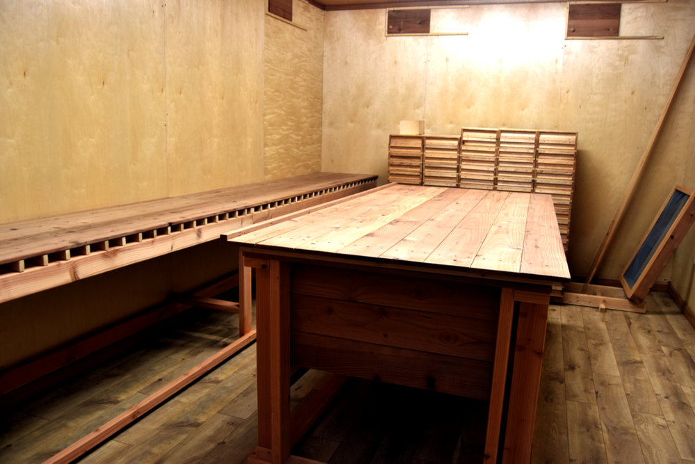 The koji room, where the first part of the magic happens