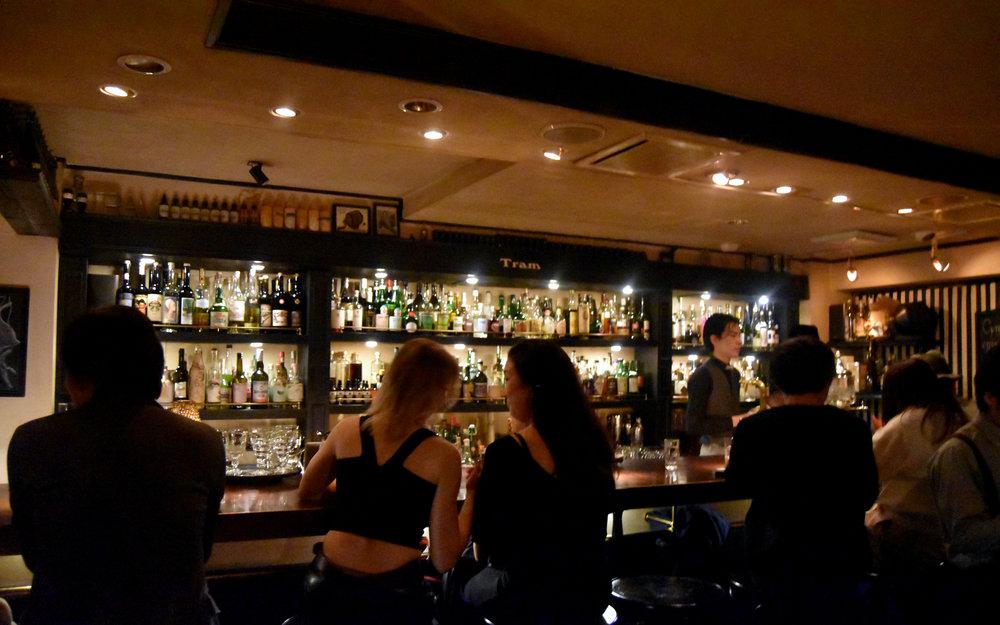 Bar Tram: Very dark and prohibition-era reminescent absinthe-focused bar.