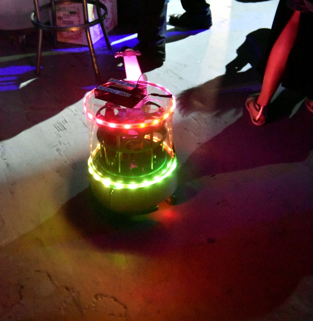 A Roomba-driven beer bot