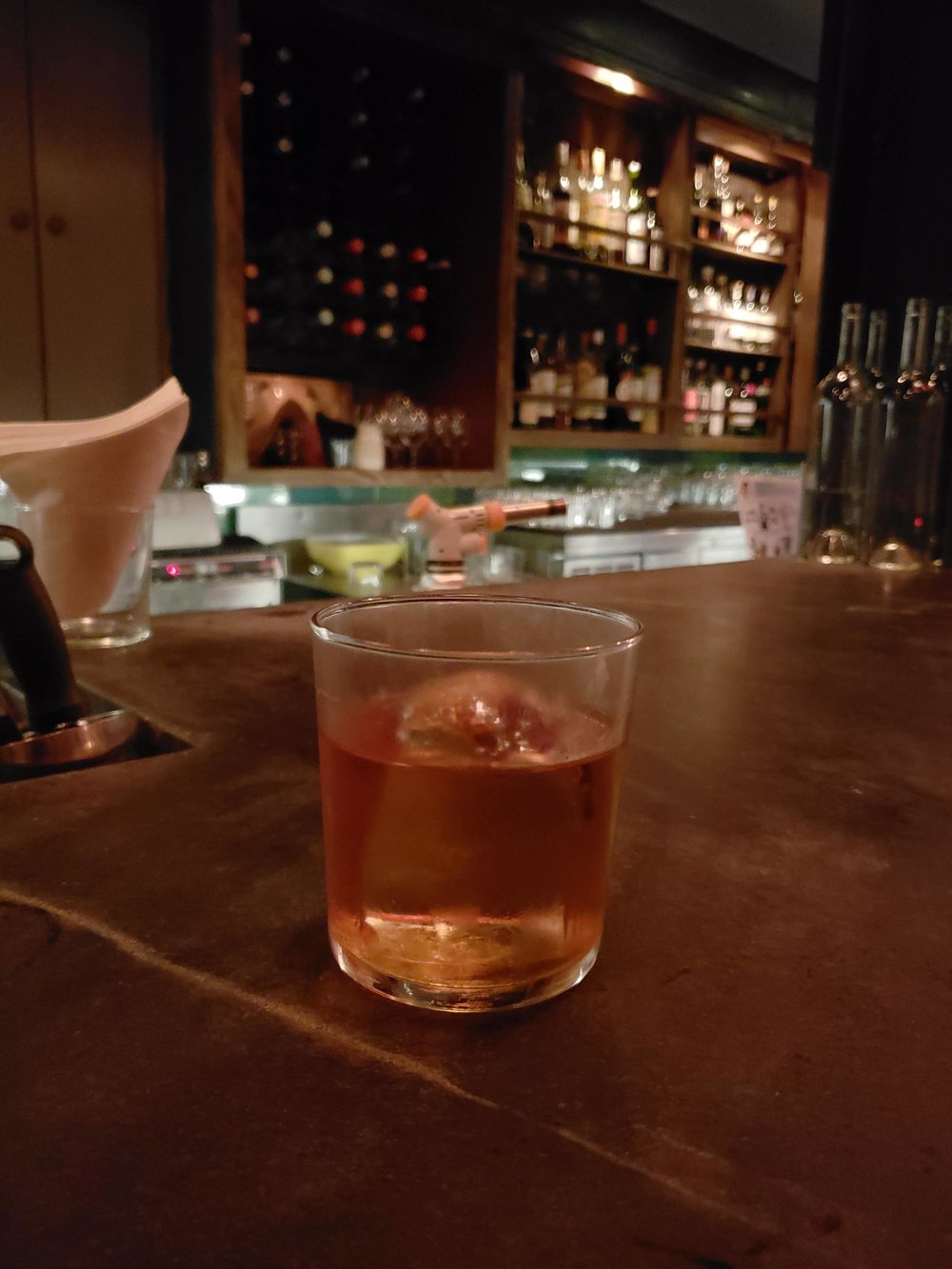 CDG - rye, cynar, vermouth, waffle liquer