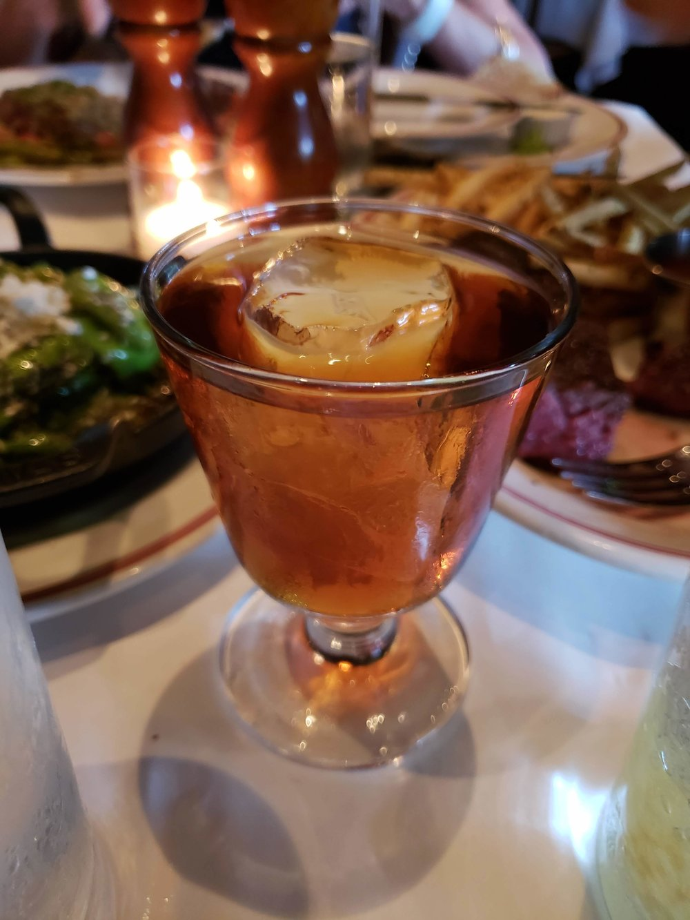 The Clouston, a cynar-based negroni variant with grapefruit oil