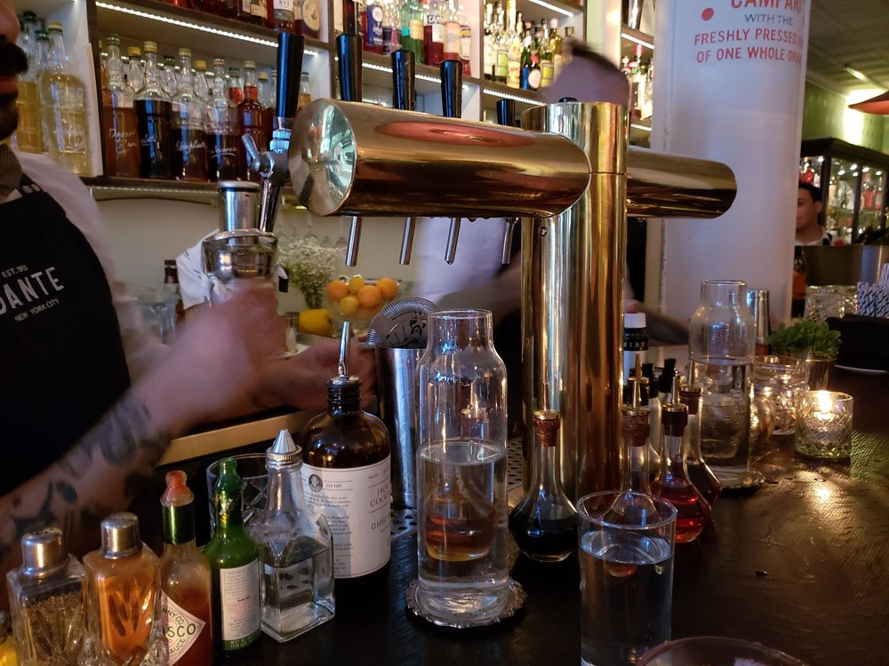 Beer? No, better. The tap spews negronis, spritzes,and vermouths.