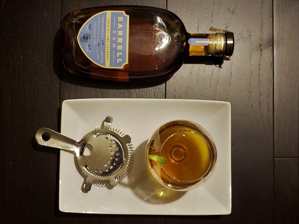 Barrell Rum cocktail