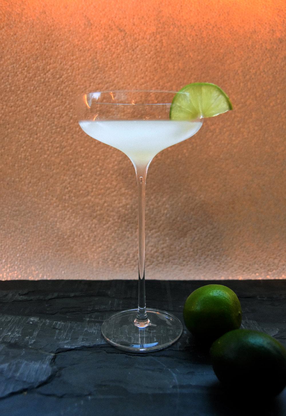 White rum daquiri - made with J Wray