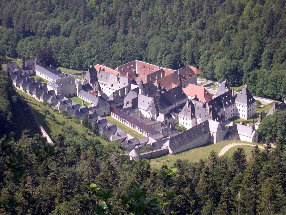 La Grande Chartreuse Monastery by Floriel, under CC license .Isère, Rhône-Alpes, France.