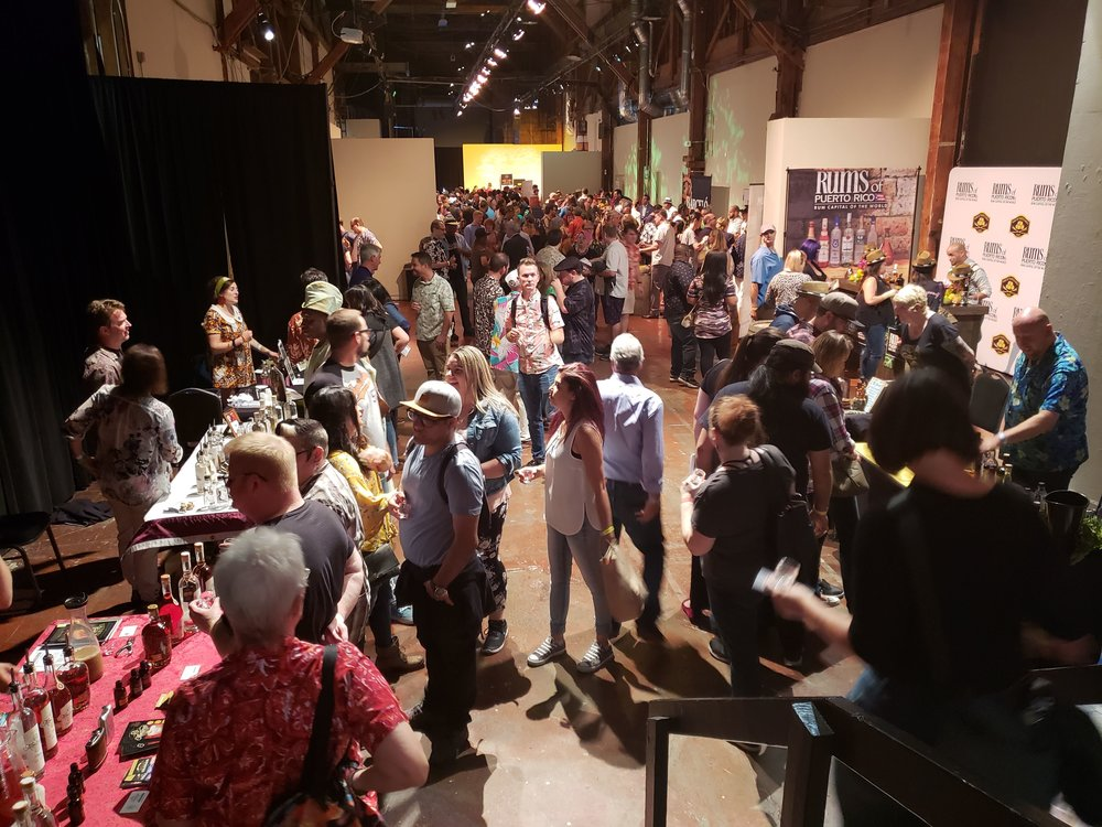 The scene inside of Rumfest: It's crowded, but manageable