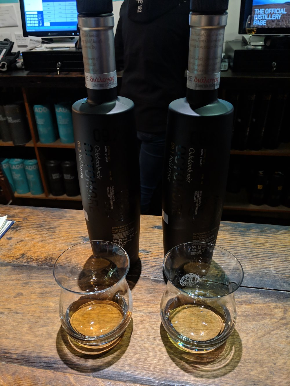 Octomore tastings at Bruichladdich
