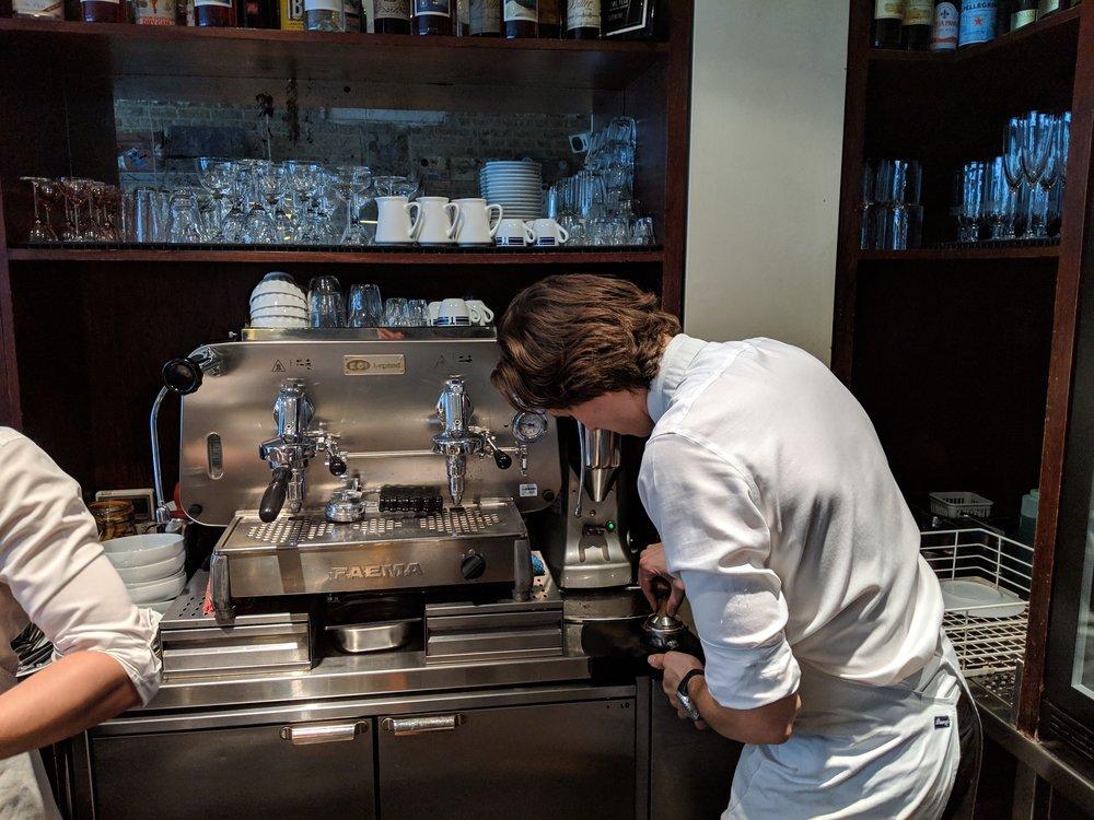 That expresso machine though. At Bar Termini.
