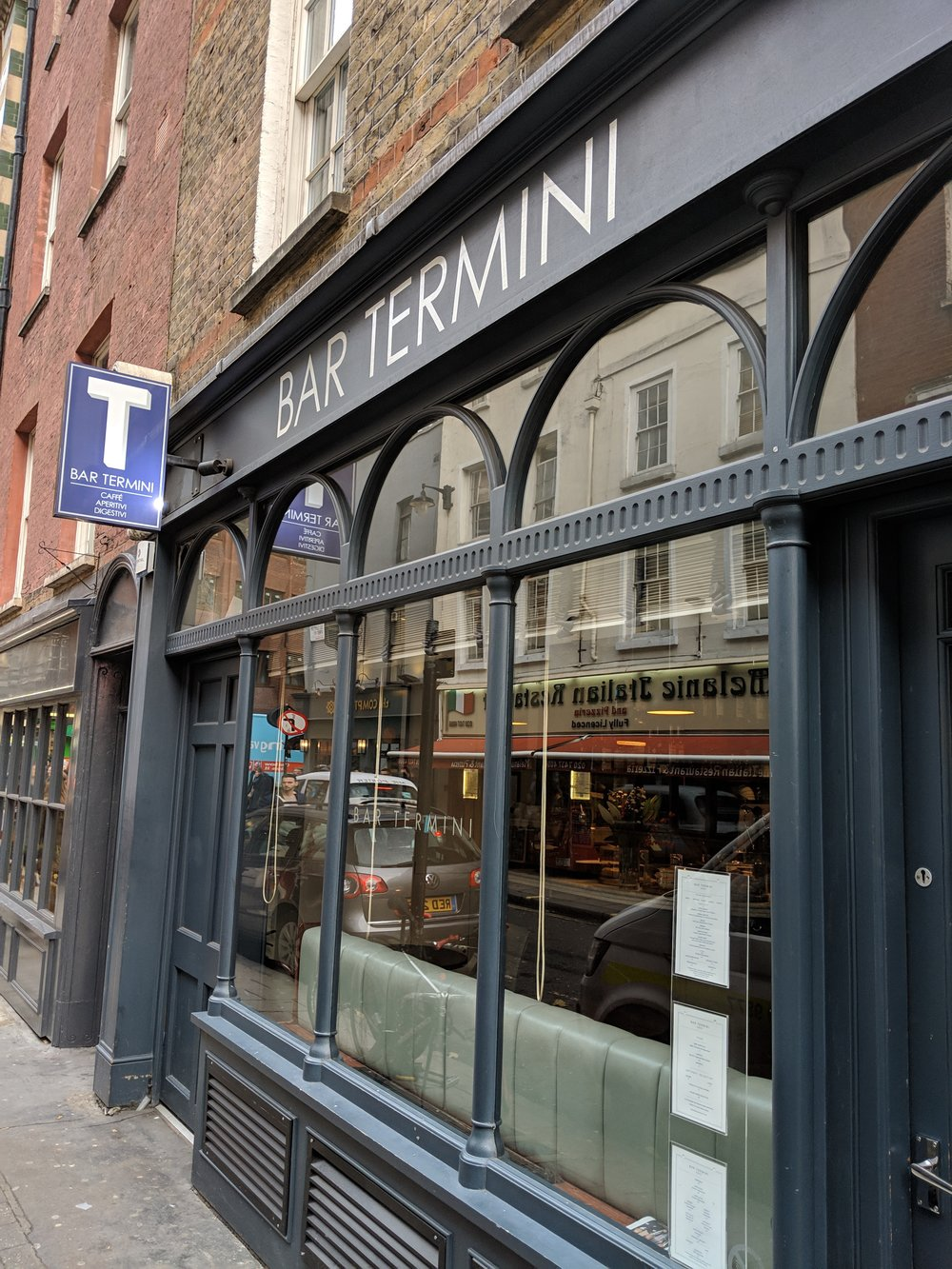 Exterior of the small and intimate Bar Termini