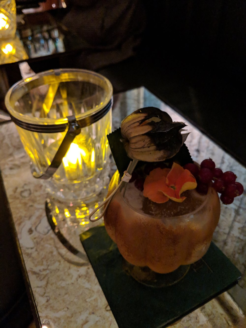 Cocktail of the month - King of Calypso: Cashcane extra old rum, pineapple rock candy syrup, bois bande bark, goat cheese & coconut leche, baked almond liquer, lime