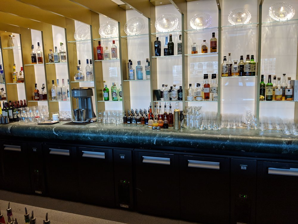 Back bar at the Dandelyan. Actually a bit more of an edited selection than I had thought it would be.