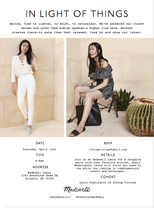 Madewell x Tchoup Vintage Shopping Event