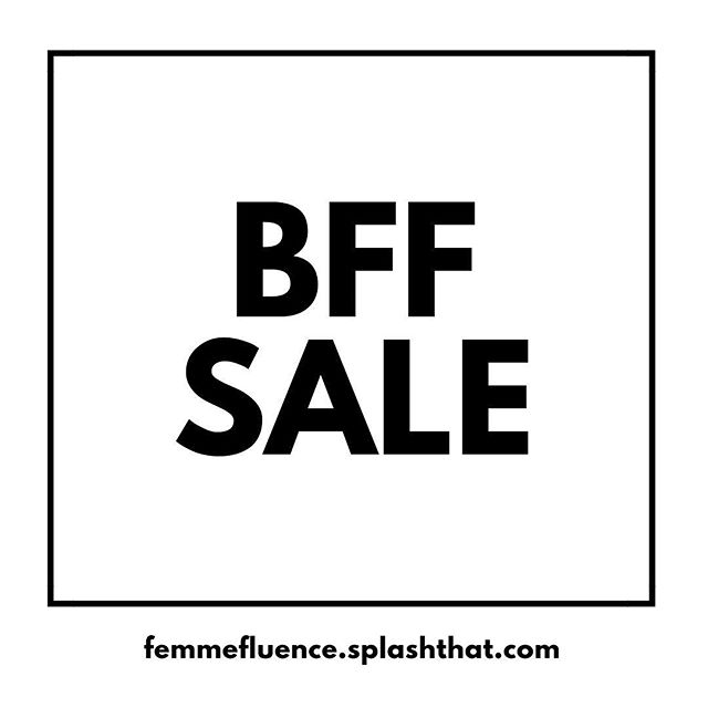Black Friday has come early! We're having a FemmeFluence BFF sale for a limited time. If you and your friend buy a ticket into Femmefluence, you'll both get 15% off. Wouldn't it be nice to carpool together to Lake Hartwell and have a friend at the retreat? No code needed! . There's only a few tickets left so don't wait on this. You're welcomed to do the retreat for the day or stay the night to get the full experience! Tickets can be bought at femmefluence.splashthat.com