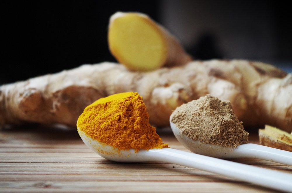 Turmeric (the orange spice you see), curcumin (the active compound) has been shown to decrease inflammation in the body. BONUS TIP: Add black pepper to enhance curcumin absorption.