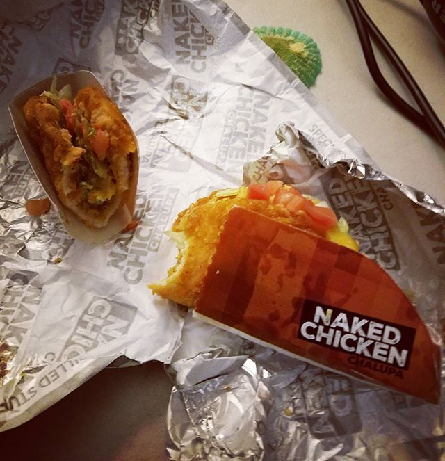 Plus 1 to hijinks tries the naked chicken chalupa.  Why are we eating this?  Listen to our episode to find out. #tacobell