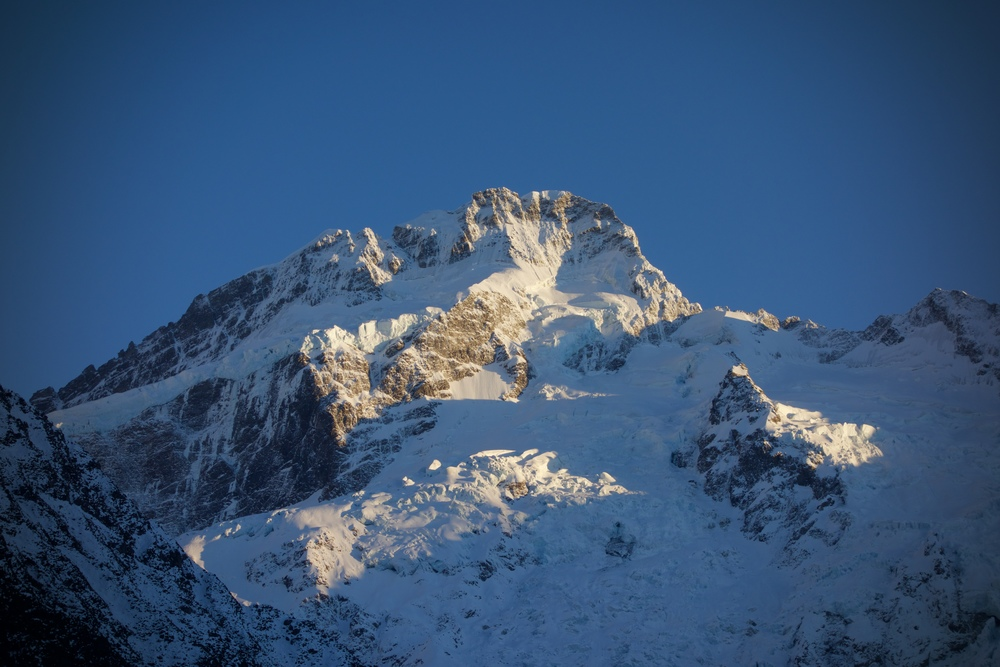Mount Sefton catching the early morning light.
