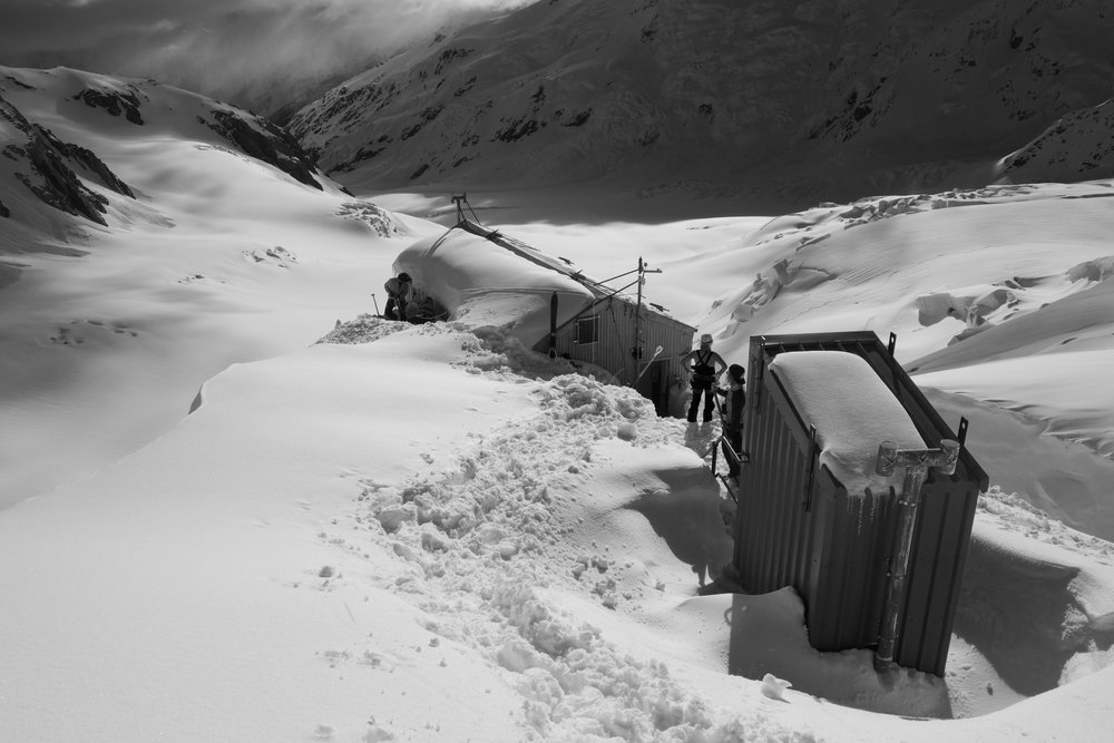 Tasman Saddle Hut in all it's Glory.