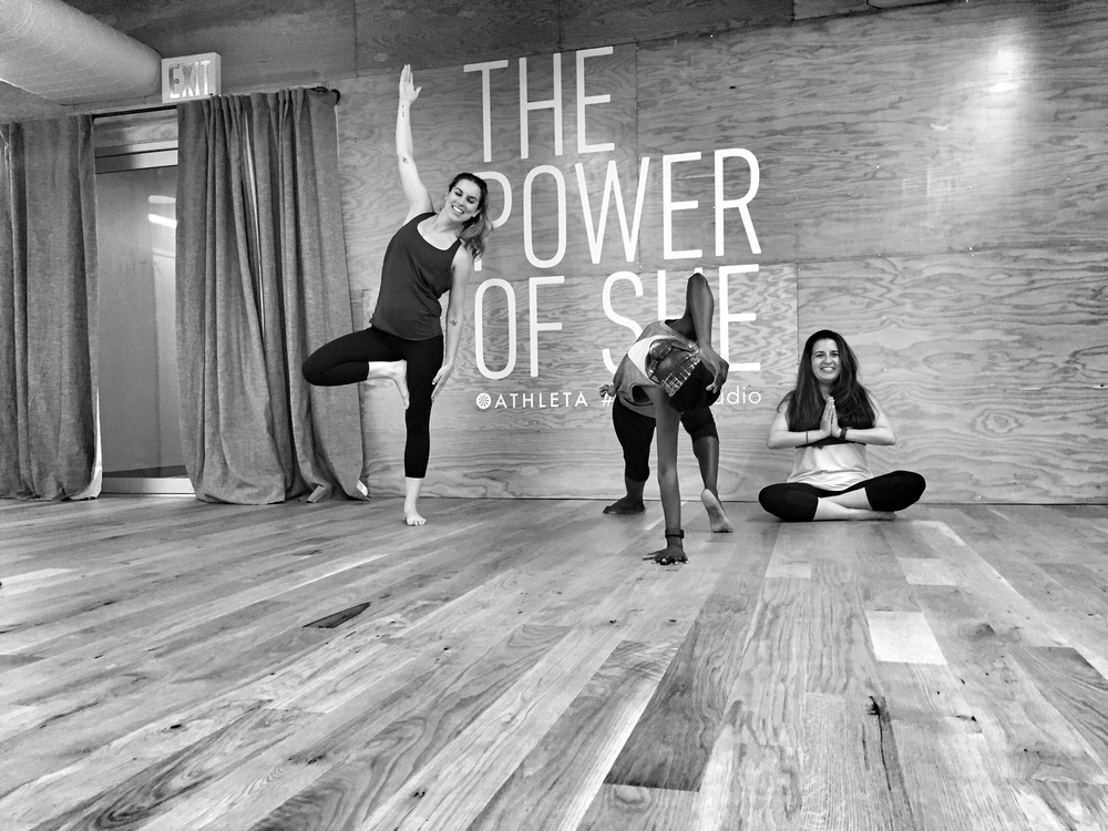 """ I loved this class!! Total relaxation. Yoga for a non-yogi.""   The Studio inside Athleta Flatiron 8/6/16"