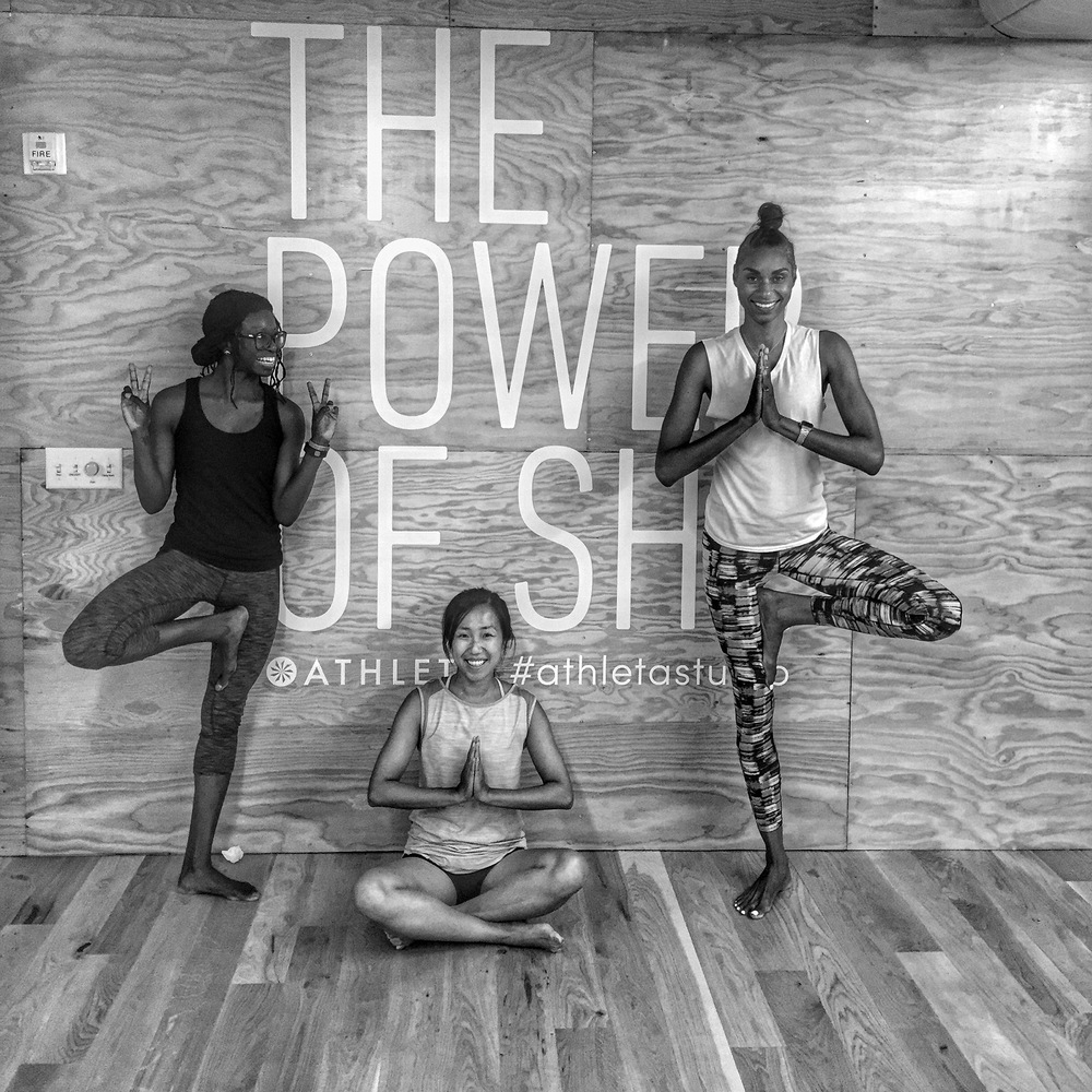 """Thanks for a great class! I sooo need and appreciate all those hip openers""  8/1/16 Mellow Mondays: GENTLE at Athleta Flatiron"