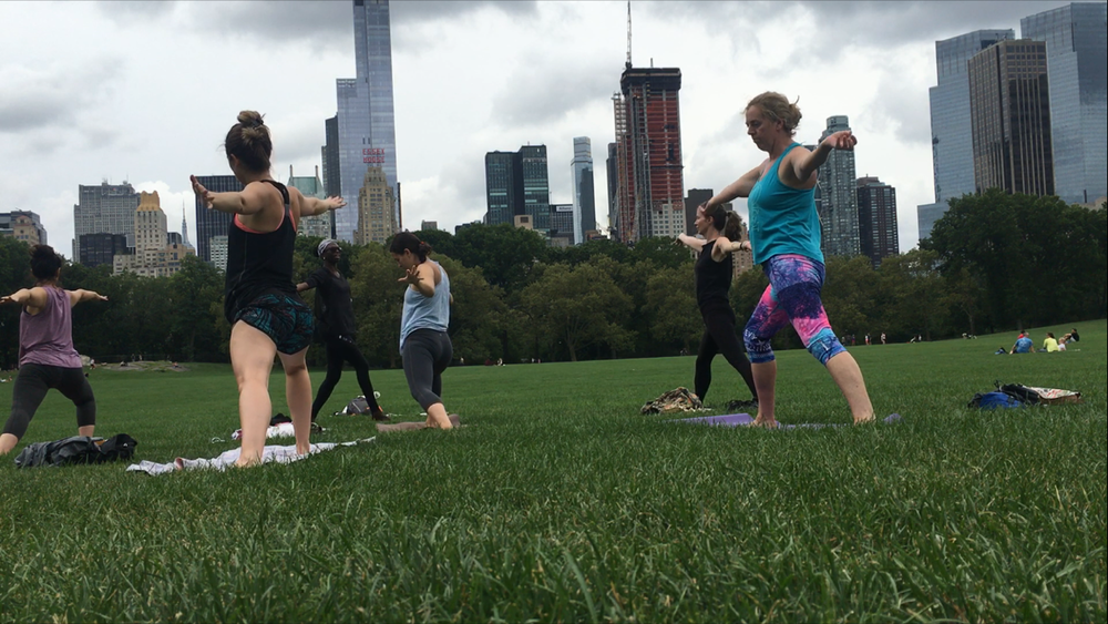 "9/3/16 ENERGIZE - Sheep Meadow, Central Park   "" Thank you Sammee for leading a lovely flow that my heart so sorely needed."""