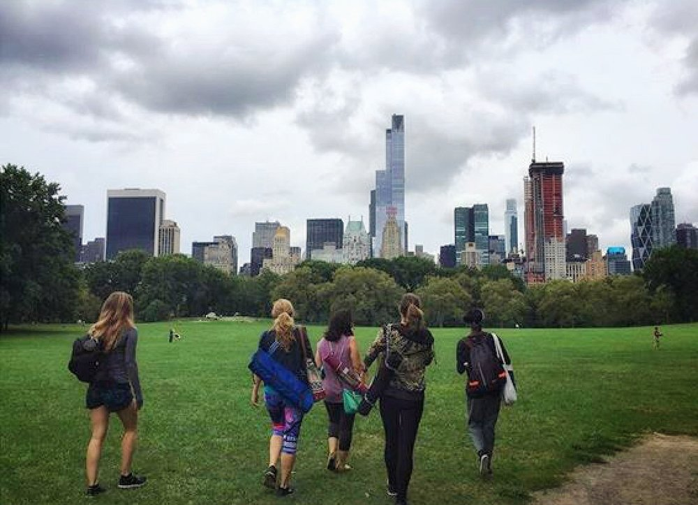 "9/3/16 ENERGIZE - Sheep Meadow, Central Park  ""Strala Everywhere✨Moody sky. Good vibes only. Thank you, Sammee for sharing your light this afternoon. I am both energized & relaxed."""
