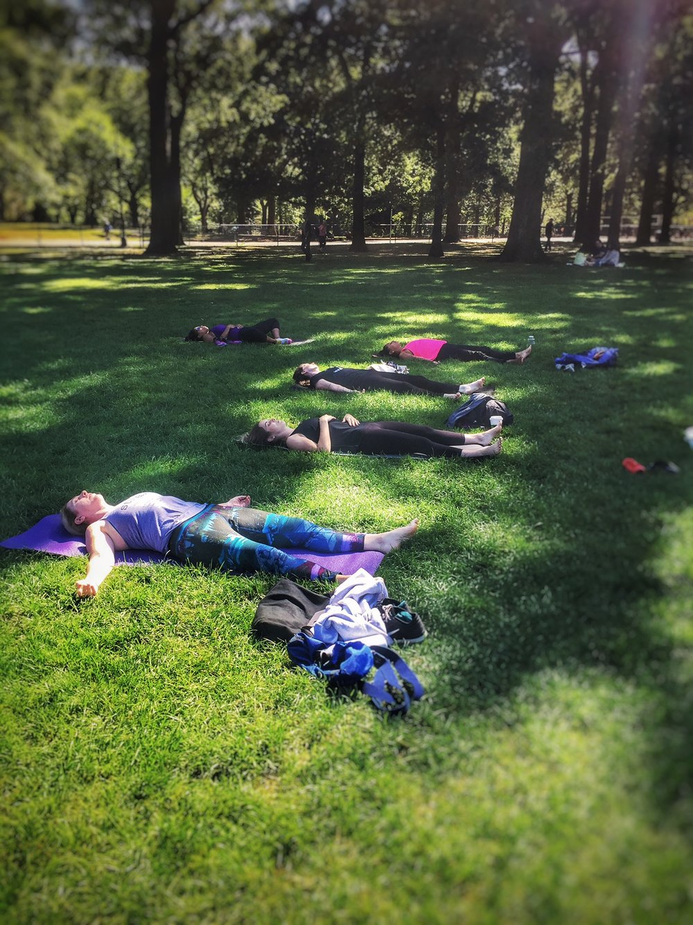 """ Thanks again Sammee for getting us out to stretch, breathe, sway & laugh surrounded by all that makes Central Park so spectacular.""    9/17/16 ENERGIZE - Sheep Meadow, Central Park"