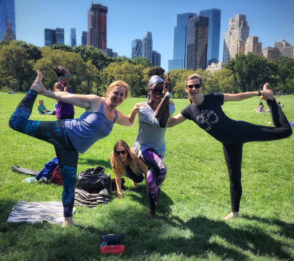 """Let's Dance! Saturday morning yoga in the park. Soooo Sweeeet! Thanks Sammee for leading an amazing class. I now feel like a rockstar!""   9/17/16 ENERGIZE - Sheep Meadow, Central Park"